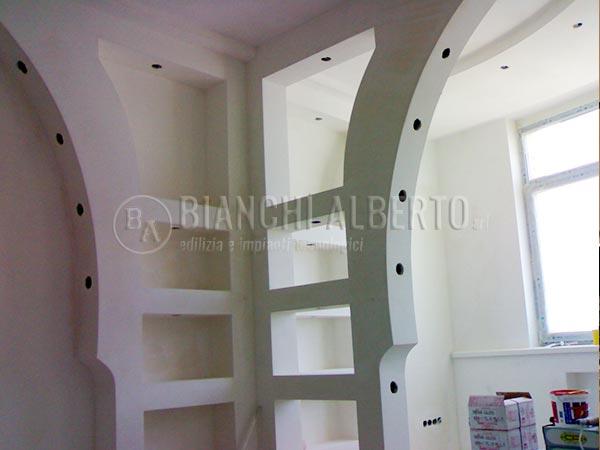 Lavori cartongesso montaggio pareti divisorie for Pareti particolari in cartongesso